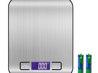 Balance Cuisine Electronique Balance De Précision Balance Numérique De Cuisine De Haute Précision, 5kg/1g, Acier Inoxydable Tactile Sensible Écran Lcd Rétroéclairé Auto Arrêt