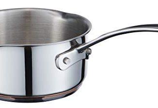 Masterchef Mc 700008 Copperline 5 Plis Induction Pot à Lait En Acier Inoxydable, Cuivré