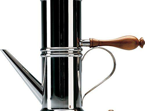 Officina Alessi 90018 Cafetière Napolitaine, Acier, Argent, 11,4 X 25,2 X 26,9 Cm