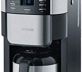 Severin Ka 4812 Cafetière, 1000 W, 1 Liter, Noir/acier Inoxydable