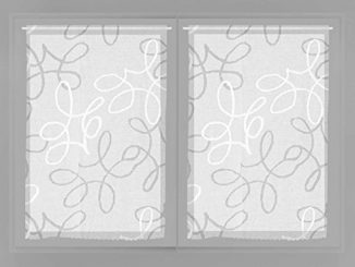 Soleil D'ocre Paire De Brise Bise 60x90 Manon, Polyester, Blanc, 60x90 Cm