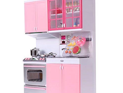 Toymytoy Cuisine De Poupée En Plastique Jeux D'imitation De Cuisine Pour Enfants (rose)