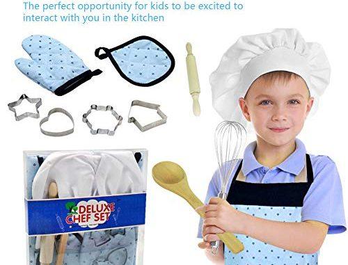 11pcs Kids Cooking And Baking Set Kit De Jouets Pour Enfants Jeu De Rôle Ustensiles De Cuisine Outils De Pâtisserie Comprend Tablier Chef Hat Mitt Cuisson Outils De Cuisson Pour Garçons Filles