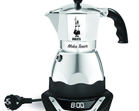 Bialetti 6093 Easy Timer Cafetière Italienne Electrique En Inox 6 Tasses Noir/gris