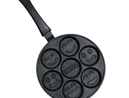 Biol Poêle à Crêpes Antiadhésive En Aluminium Smiley Faces (24 Cm)