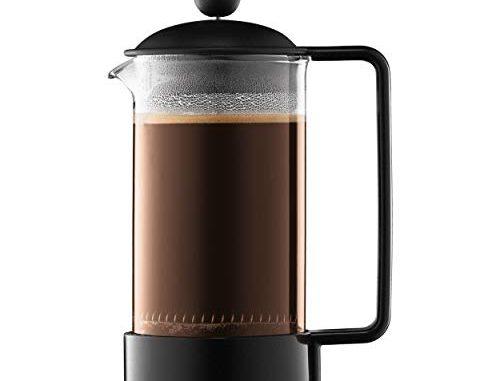 Bodum 1543 01 Brazil Cafetière à Piston 3 Tasses 0.35 L Noir