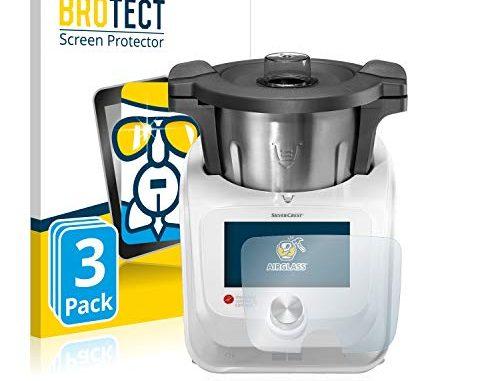 Brotect Protection Ecran Verre Compatible Avec Silvercrest Monsieur Cuisine Connect (3 Pièces) Film Protecteur Vitre 9h Anti Rayures, Airglass