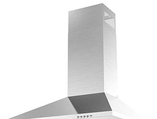 Ciarra Hotte Aspirante 60cm Evacuation Ou Recyclage 380 M³/h 3 Vitesses D'aspiration Filtre à Graisse Alu Acier Inox Hotte Murale Cuisine Extracteur D'air