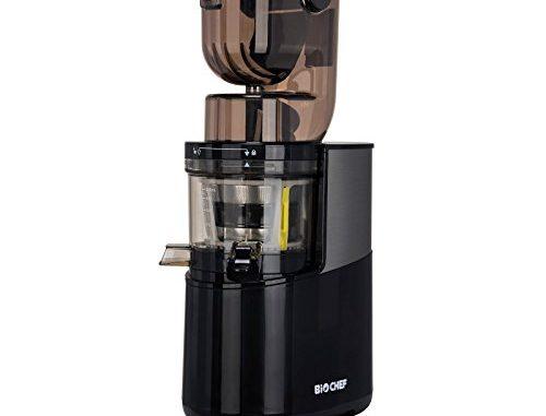 Extracteur De Jus Biochef Atlas Whole Slow Juicer Pro Puissance Maximale 400w / 40 Tr/min, Grande Ouverture, Moteur Très Puissant (noir)