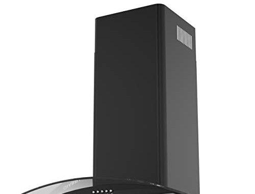 Hotte Aspirante En Verre Incurvé Ciarra, Avec Ventilateur D'extraction D'air, Modèle Noir De 60 Cm Filtre à Charbon Cbcf004