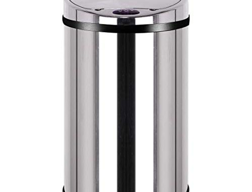 Kitchen Move Bat 30lb As Design Originale Poubelle Sensor Automatique Inox Capacité 30 Litres