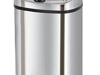 Kitchen Move Bat 58ls06 As Poubelle Automatique De Cuisine Carré Finition Chrome Inox 40 X 28 X 67 Cm