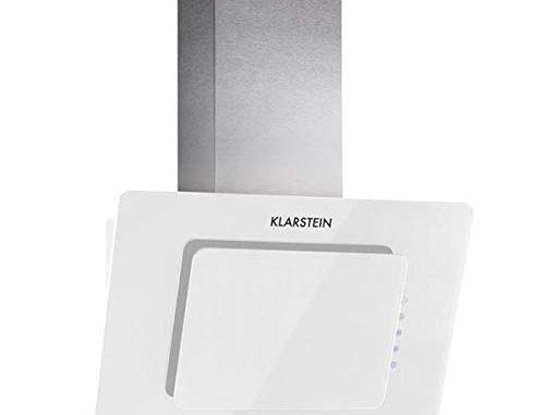 Klarstein Lorea Hotte Aspirante, Puissance Maximale : 280 M³/h, Commande Tactile, 60 Cm De Large, Éclairage, 60 Db, Trois Niveaux, Filtre à Graisse, Blanc
