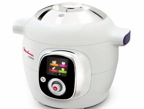 Moulinex Ce701010 Cookeo Multicuiseur Intelligent Avec 50 Recettes Blanc