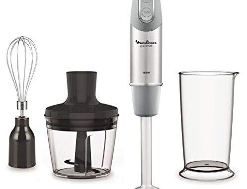 Moulinex Quickchef mixeur Plongeant Avec 3accessoires, Acier Inoxydable, 10vitesses, 1000w