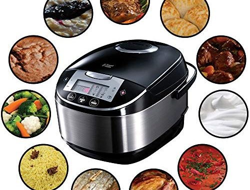 Russell Hobbs 21850 56 Multicooker Cook, Home, 11 Programmes De Cuisson, Accessoires De Cuisson, Couvercle Anti Condensation, 5.0 L, 900 Watts, Acier Inoxydable/noir
