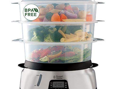 Russell Hobbs Cuiseur Vapeur 10.5l Digital Programmable, Cuiseur Légumes, Riz, Œufs, Compatible Lave Vaisselle 23560 56