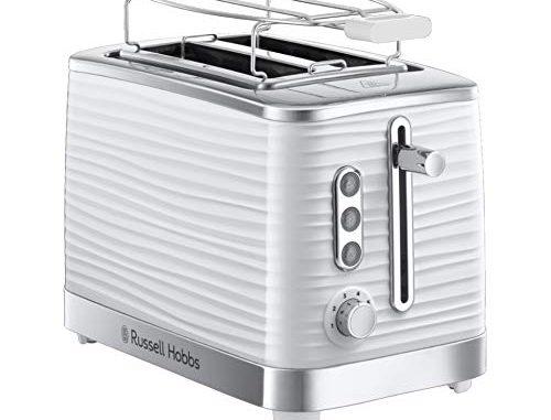 Russell Hobbs Grille Pain, Toaster Extra Large Inspire, Contrôle Brunissage, Décongéle Et Réchauffe, Chauffe Viennoiserie Inclus 24370 56