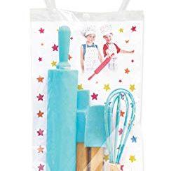 Scrapcooking Kids 1133 Set De 4 Ustensiles Pour Enfants, Silicone, Bleu Turquoise, 31 X 16,5 X 0,1 Cm