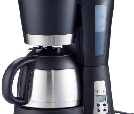 Suntec Cafetière Filtre Kam 9004 [programmation (minuterie Et Heure), + Système Anti Gouttes, Verseuse Isotherme (1 Litre), Max. 800 Watt]