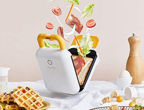 Syjya Cuiseur Électrique Compact Avec Chaleur Poêle À Omelette Anti Adhésive Pour Griller Les Œufs Et Sandwich Facile À Nettoyer Blanc