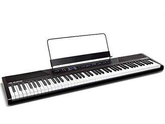 Alesis Recital Piano Numérique / Clavier De 88 Touches Semi Lestées De Taille Authentique, Avec Adaptateur Secteur, Enceintes Intégrées Et 5 Voix Prémium, Pour Débutant