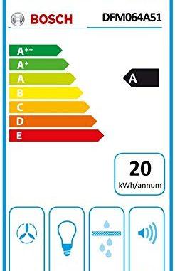 Bosch Serie 4 Dfm064a51 Hotte 420 M³/h Semi Intégrée (semi Encastrée) Métallique, Argent A Hottes (420 M³/h, Conduit/recirculation, A, A, C, 59 Db)