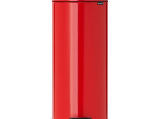 Brabantia 111808 Poubelle à Pédale Newicon Avec Seau En Plastique, 30 L Rouge Passion