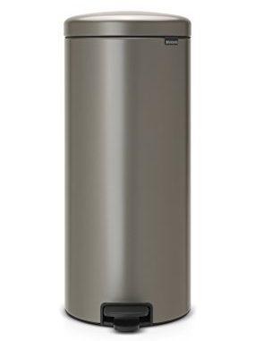 Brabantia 114441 Poubelle à Pédale Newicon Avec Seau En Plastique, 30 L Platinum
