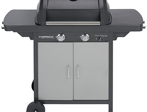 Campingaz Barbecue à Gaz Class 2 Lx Plus Vario, 2 Brûleurs, Puissance 7.5kw, Grille Et Plancha En Acier Double émaillage, 2 Tablettes Latérales