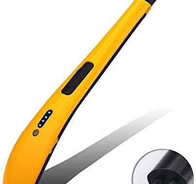 Dmygo Arc électrique Briquet Rechargeable Bougies Sans Flamme Usb Allume Sparks Non Et Odeur Convient For Les Bougies Poêles Etc (color : Yellow)