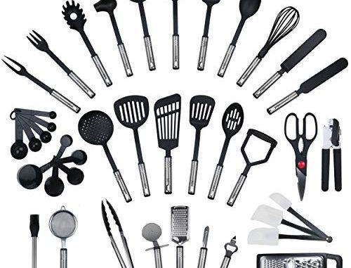 Ensemble De 42 Pièces Par Kronenkraft Set De Cuisine En Acier Inoxydable Et Nylon, Ensemble De Gadgets De Cuisine, Set De Cuisine, Batterie De Cuisine, Ustensiles De Cuisine, équipement D'origine,