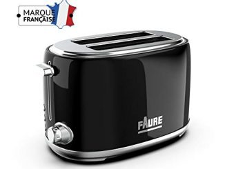 Faure Ft2s 8111 Grille Pain Design Vintage 810w Puissance Réglable Ejection Haute 2 Larges Fentes Coloris Noir