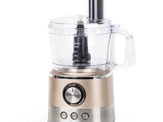H.koenig Robot De Cuisine Multifonctions 1,2l Compact Mix330, Professionnel, Puissant 1000w, Fonctions Préprogrammées: Pulser/mélanger/couper/pétrir, 4 Disques+lames Inox, Presse Agrumes électrique