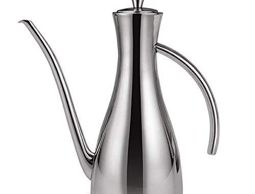 Huiler Distributeur De Huile Olive En Acier Inoxydable Burette Huile Pot Leakproof/drizzler/vinaigre Verseur/olive Bouteille D'huile,800ml