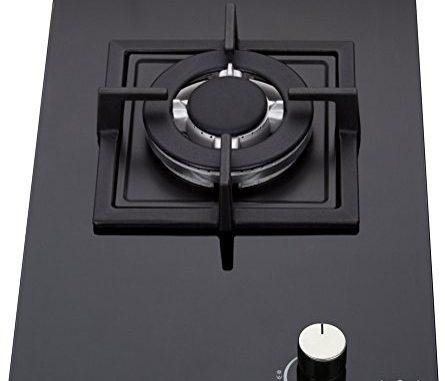 K&h Domino 1x Brûleurs Table De Cuisson Gaz En Verre Trempé 30cm Wok 1z Khgw
