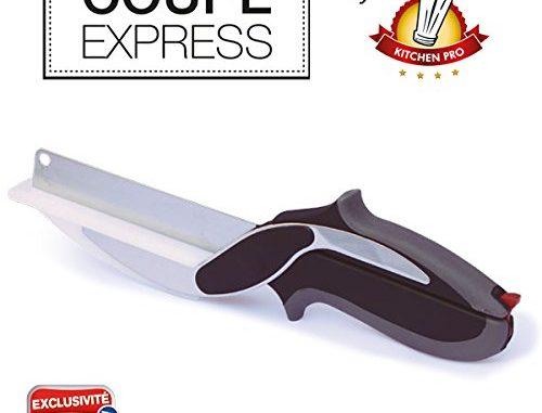 Kitchen Pro Coupe Express 2en1 L'original, L'ustensile De Cuisine Idéal Pour Couper, Trancher Et Découper En Un Instant Toute Vos Préparations.