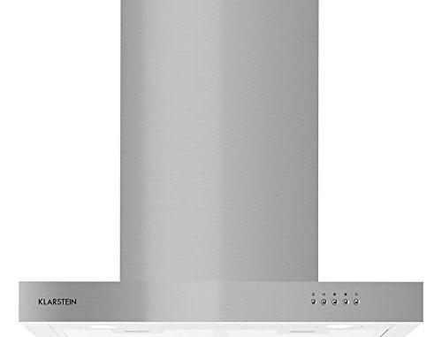 Klarstein Zarah Hotte Aspirante, 60 Cm, A Monter, Jusqu'à 620 M³/h, Eclairage Led (2 X 1,5 Watts), Extérieur En Inox, Puissance : 213w, Kit De Montage, Argent