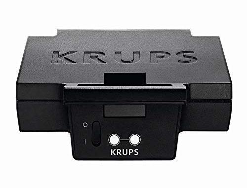 Krups Fdk 451 Appareil à Croque Monsieur 850 W, Plaques 25 X 12 Cm (noir)