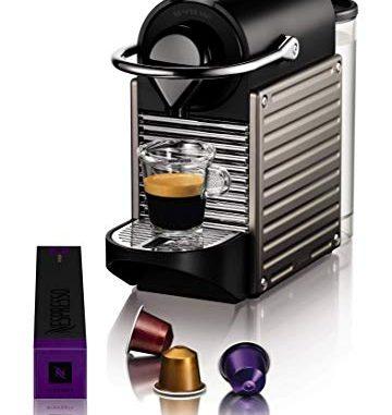 Krups Yy4127fd Machine Expresso Nespresso Pixie Titane Cafetière à Dosettes Machine à Café Cafetière Expresso
