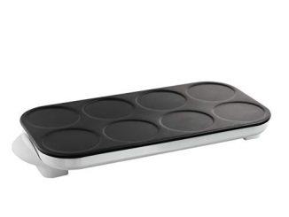 Livoo Doc186 Maxi Party | 8 Mini Crêpes | Revêtement Antiadhésif | Chauffe Rapidement |1200w, Blanc