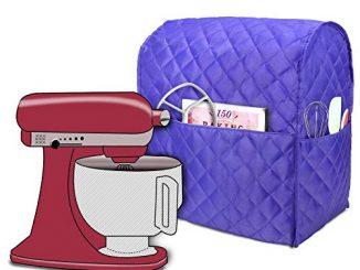 Luxja Housse De Protection Anti Poussière Pour Kitchenaid Robot Pâtissier Et Accessoires Supplémentaires (convient Aux 4,3 Litre Et De 4,8 Litre Kitchenaid Robot Pâtissier), Violet Matelassé