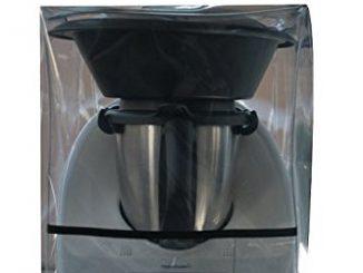 Ma Belle Housse Housse De Protection Pour Thermomix Tm5/tm31/tm6 Transparente Avec Varoma Biais Noir