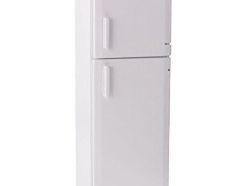 Magideal 1/12 Maison De Poupée Cuisine Meuble Miniature Blanche Réfrigérateur Congélateur En Bois Décoration 1.97 X 1.85 X 5.9 Pouces