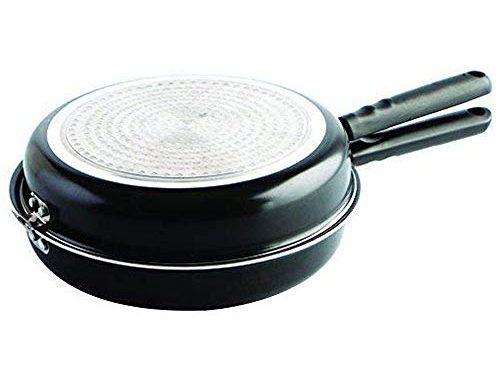 Mge Double Poêle à Omelette Avec Revêtement Antiadhésif Poêle à Tortilla Ø 24 Cm Noir