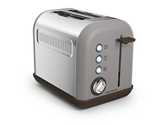Morphy Richards 222005 222003 Accents 2 Slice Toaster, 850 W, Pebble Grille Pain, Gris Minéral