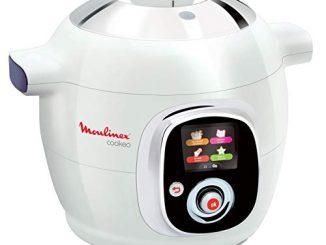 Moulinex Ce704110 Multicuiseur Intelligent Cookeo 6l 7 Modes De Cuisson 100 Recettes Préprogrammées Jusqu'à 6 Personnes 1200w Blanc