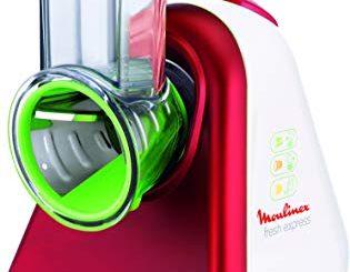 Moulinex Découpe Légumes Electrique Fresh Express3 En 1 Râper Emincer Gratter Mandoline Légumes Fruits Fromage 200w Dj753510