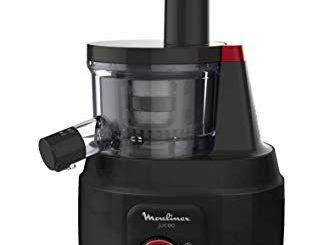 Moulinex Juiceo Extracteur De Jus à Froid, 150w, 0,8litres, Plastique, Noir Et Rouge