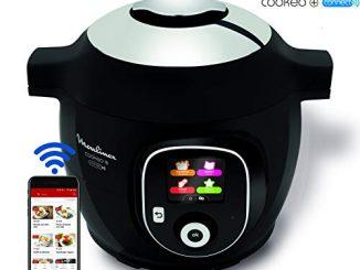 Moulinex Multicuiseur Intelligent Cookeo + Connect Via Application Bluetooth Multicuiseur Sous Pression 6l 200 Recettes 6 Modes De Cuisson Noir Ce857800